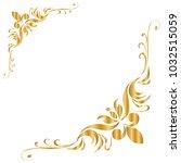 line thai golden   the arts of... | Shutterstock .eps vector #1032515059
