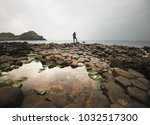 reflections in the tide pools... | Shutterstock . vector #1032517300