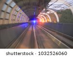 train moving in city rail... | Shutterstock . vector #1032526060
