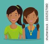 girls couple avatars characters   Shutterstock .eps vector #1032527080