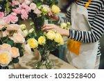 young beautiful asian girl... | Shutterstock . vector #1032528400