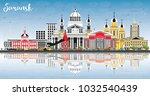 saransk russia city skyline... | Shutterstock . vector #1032540439