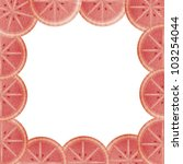 Orange blood lining to the frame isolated - stock photo