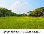 meadow scenery landscape with... | Shutterstock . vector #1032565360