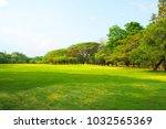 meadow scenery landscape with... | Shutterstock . vector #1032565369