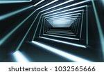 abstract 3d corridor... | Shutterstock . vector #1032565666