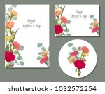 set of templates for mother's... | Shutterstock .eps vector #1032572254