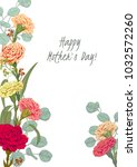 template for mother's day ... | Shutterstock .eps vector #1032572260