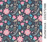 seamless vector pattern with... | Shutterstock .eps vector #1032572488