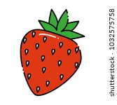 delicious sweet strawberry icon | Shutterstock .eps vector #1032575758