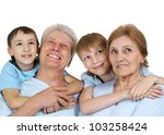 a happy family of four on a... | Shutterstock . vector #103258424