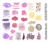 big set of vector hand drawn... | Shutterstock .eps vector #1032587923