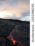 lava flow in hawaii | Shutterstock . vector #1032588250