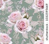 seamless pattern. decorative...   Shutterstock . vector #1032595669