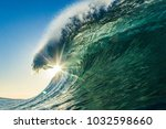 some ocean waves | Shutterstock . vector #1032598660