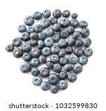 natural looking blueberries on... | Shutterstock . vector #1032599830