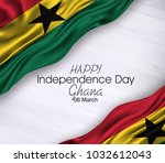 vector illustration of ghana... | Shutterstock .eps vector #1032612043