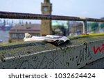 historic harbor in hamburg with ... | Shutterstock . vector #1032624424
