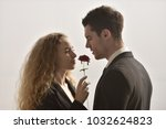 beautiful couple love. happy... | Shutterstock . vector #1032624823