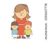 cute cartoon illustration of... | Shutterstock .eps vector #1032627778