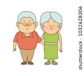 couple of lovely people. man... | Shutterstock .eps vector #1032628306