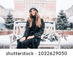 beautiful russian girl in a...   Shutterstock . vector #1032629050