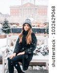 beautiful russian girl in a...   Shutterstock . vector #1032629068