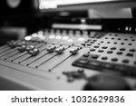 sound recording studio mixing... | Shutterstock . vector #1032629836