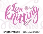 hand sketched pink love... | Shutterstock .eps vector #1032631000