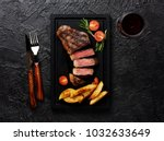 meat picanha steak  traditional ... | Shutterstock . vector #1032633649