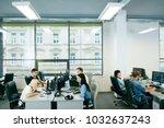 people working in modern office.... | Shutterstock . vector #1032637243