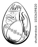 drawing of a traditional egg... | Shutterstock .eps vector #1032639820