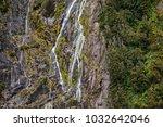 cliff detail  milford sound ... | Shutterstock . vector #1032642046