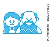 cute grandparents couple cartoon | Shutterstock .eps vector #1032644698
