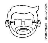 cute grandfather cartoon | Shutterstock .eps vector #1032647026