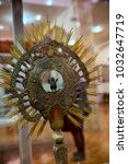 a monstrance  also known as an... | Shutterstock . vector #1032647719