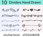 dividers vector set.  dividers... | Shutterstock .eps vector #1032648658