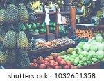 fruits and vegetables.farmer's... | Shutterstock . vector #1032651358