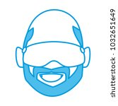 man with winter goggles face | Shutterstock .eps vector #1032651649