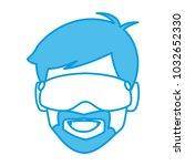 man with winter googles face | Shutterstock .eps vector #1032652330
