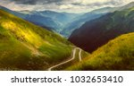 landscape with rocks  sky with ... | Shutterstock . vector #1032653410