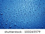 Fresh Background Of Water Drop...