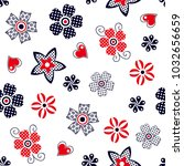 abstract geometric polka dots... | Shutterstock .eps vector #1032656659