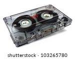 Audio Cassette  On White...