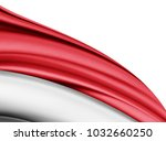 indonesia  flag of silk with... | Shutterstock . vector #1032660250