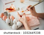hands painting modern style... | Shutterstock . vector #1032669238