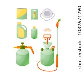 a set for spraying garden...   Shutterstock .eps vector #1032671290