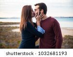 young couple in love  man and... | Shutterstock . vector #1032681193