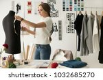 woman fashion designer... | Shutterstock . vector #1032685270