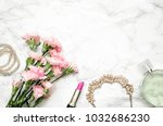 women's accessories with cloves ... | Shutterstock . vector #1032686230